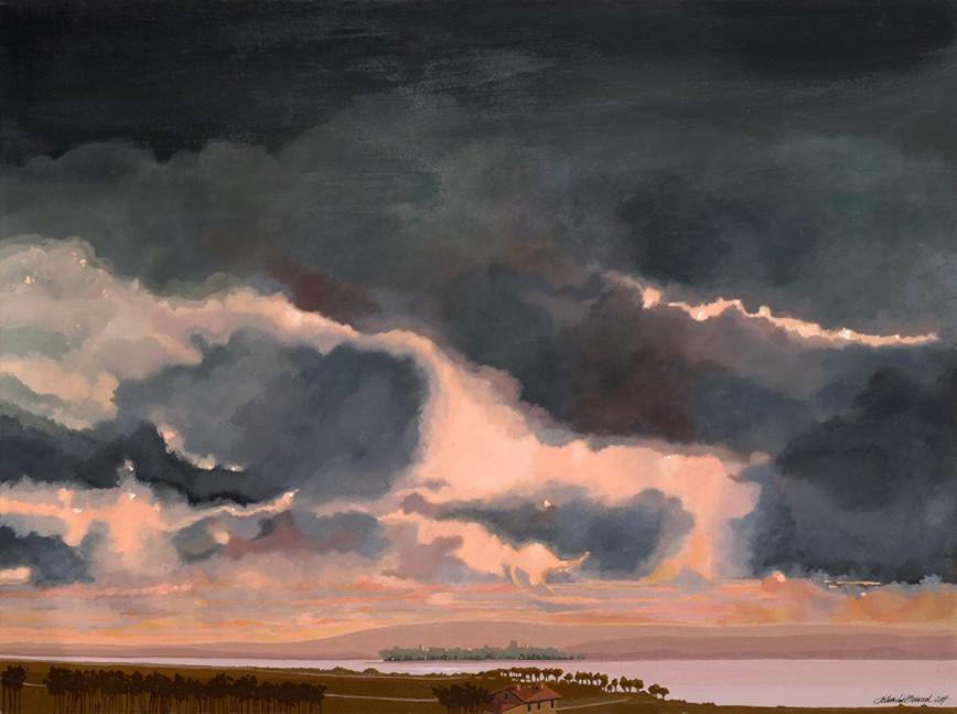 Cielo di sera - Trasimeno