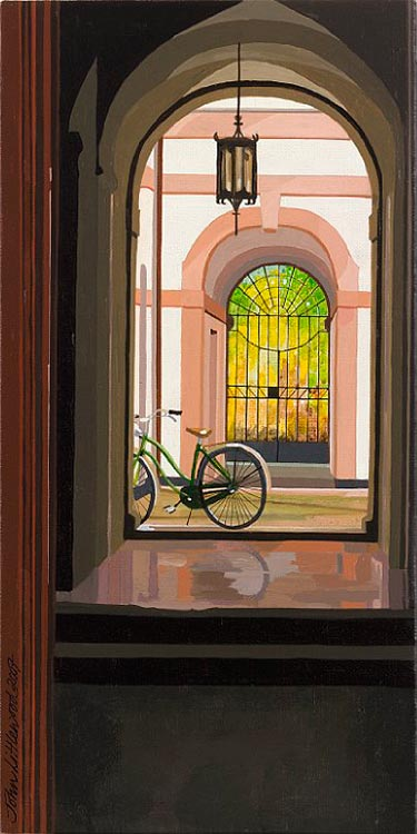 Courtyard with Bicycle